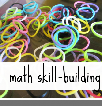 rainbow loom math skill building teachmama.com
