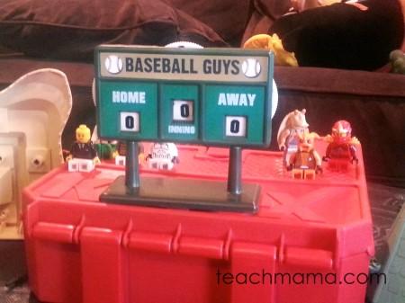 lego baseball | sneaky math fun