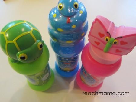 snake turtle butterfly bubbles