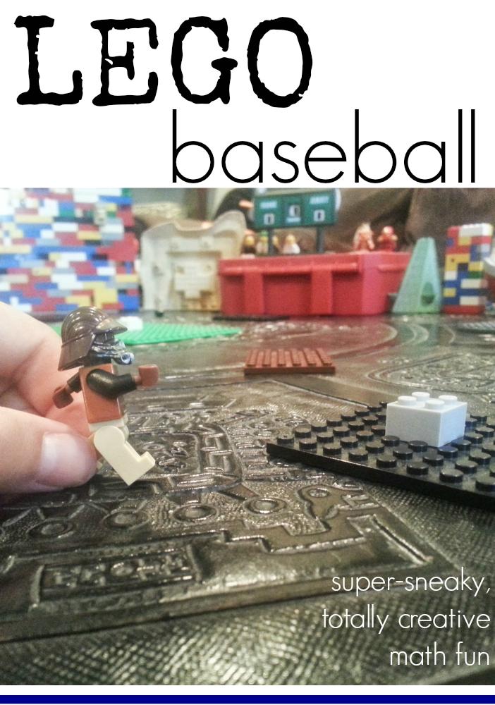 lego baseball   sneaky, creative math fun