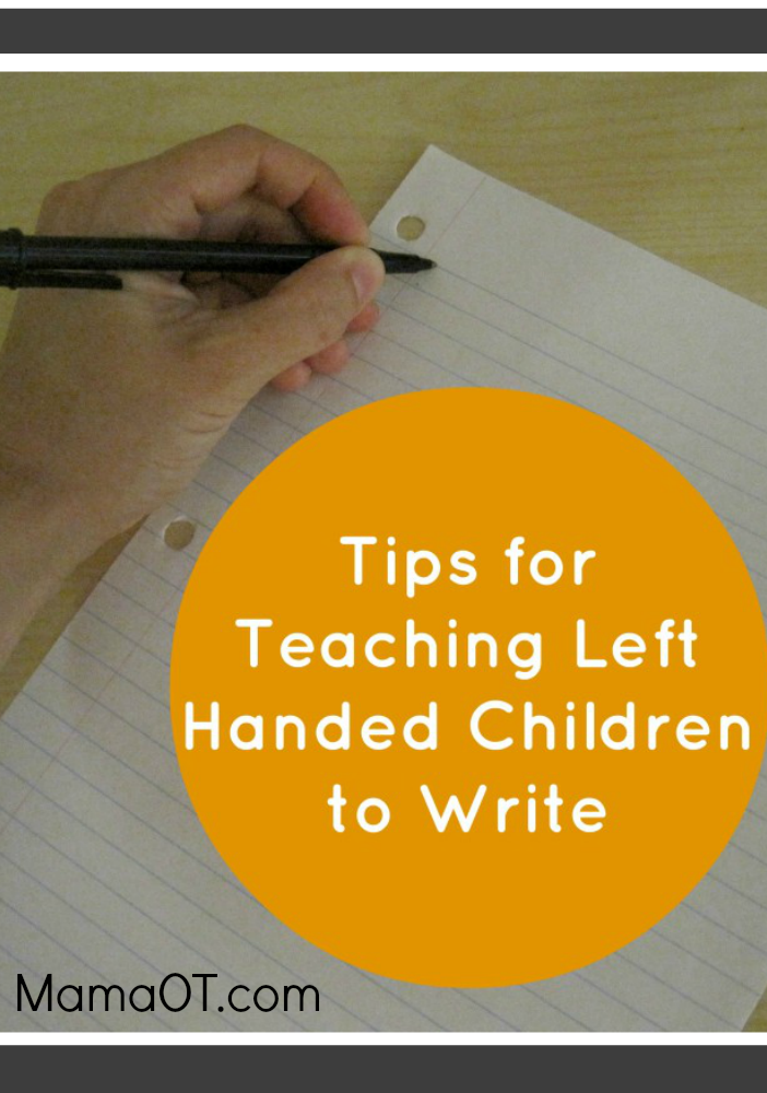 teaching left handed kids to write
