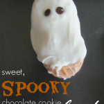 sweet spooky chocolate cookie ghosts