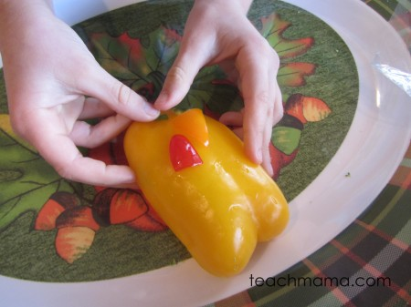 make a veggie turkey: kid-happy, thanksgiving dinner-ready