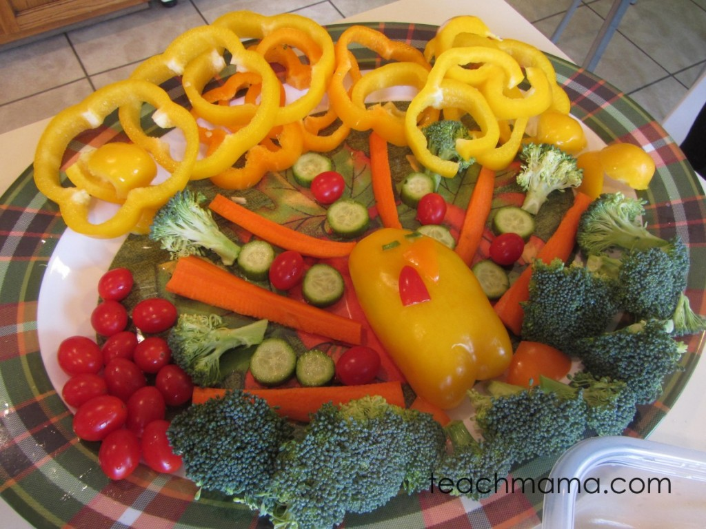 vegetable turkey finished on a tray