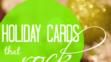 holiday cards that rock minted