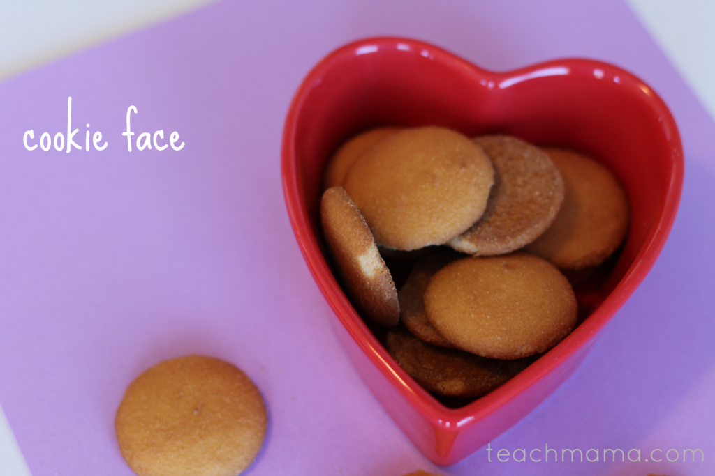 valentines day class party ideas cookie face teachmama.com
