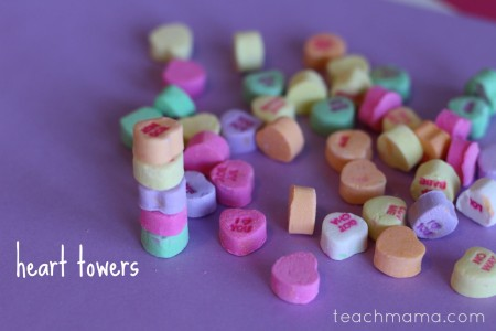 valentines day class party ideas heart towers teachmama.com
