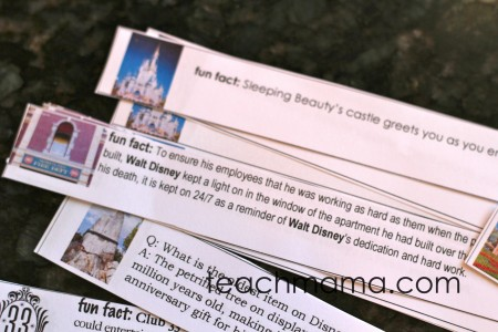 disneyland fun fact lunchbox notes | teachmama.com