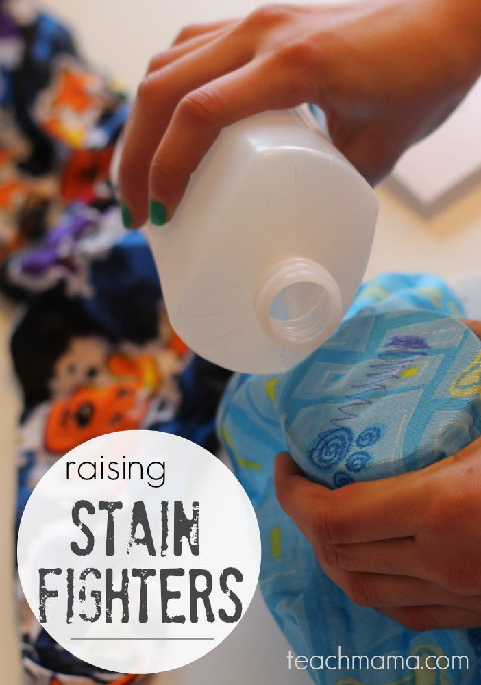 teach kids to be stain fighters: laundry from start to finish