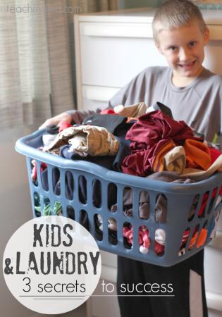 kids and laundry | 3 secrets to success | teachmama.com