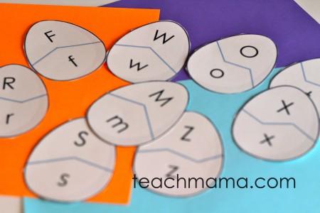 alphabet egg letter match puzzles | teachmama.com