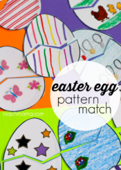 easter egg pattern match game: for kids, by kids