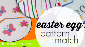 easter egg pattern match teachmama.com