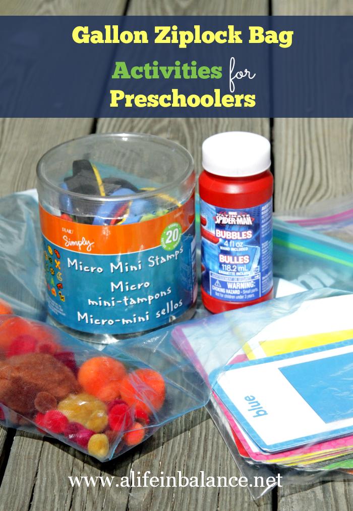 gallon ziplock bag activities for preschoolers