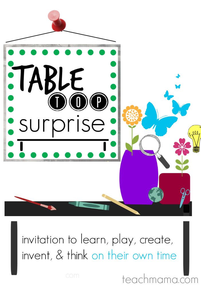 summer activities for thinking, curious, and creative kids tabletop surprises calendar promo.