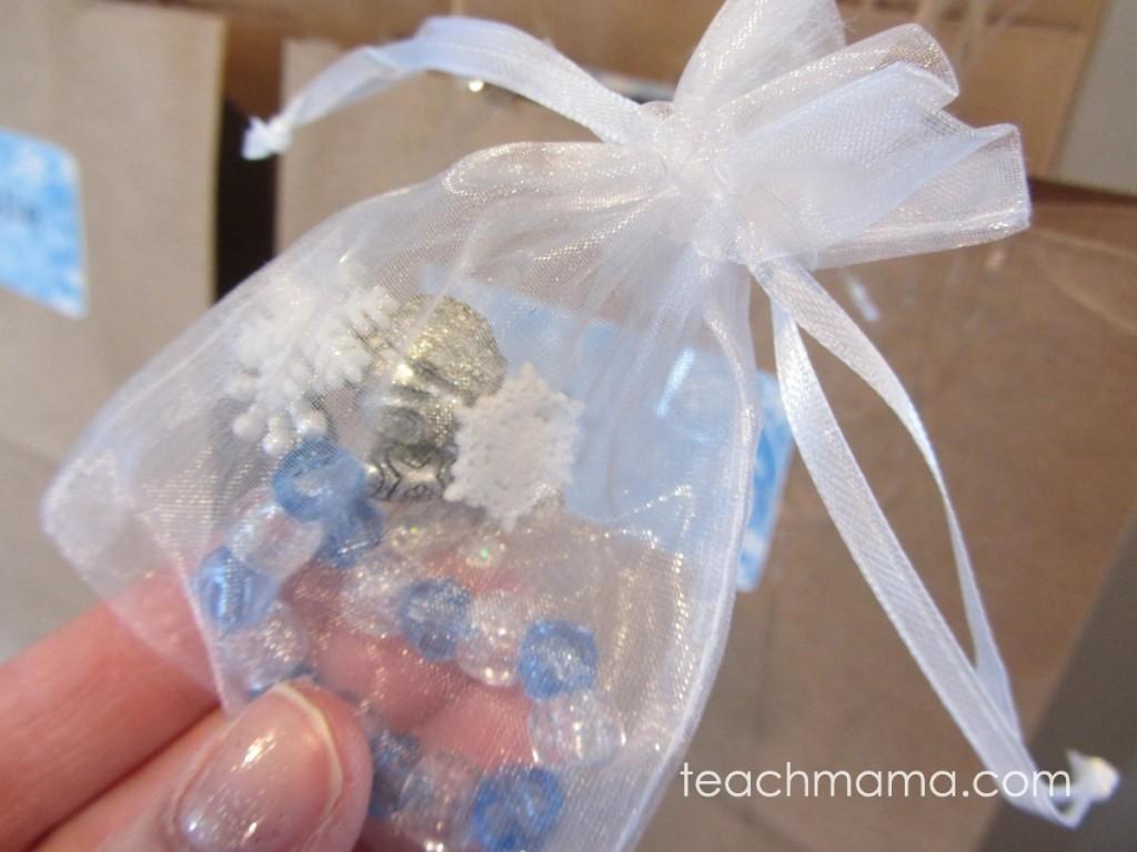 sparkle bracelet in a little mesh goodie bag