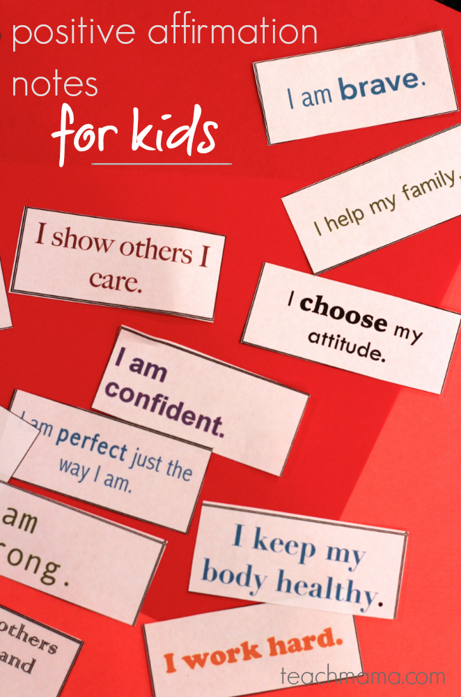 positive affirmation notes for kids teachmama.com