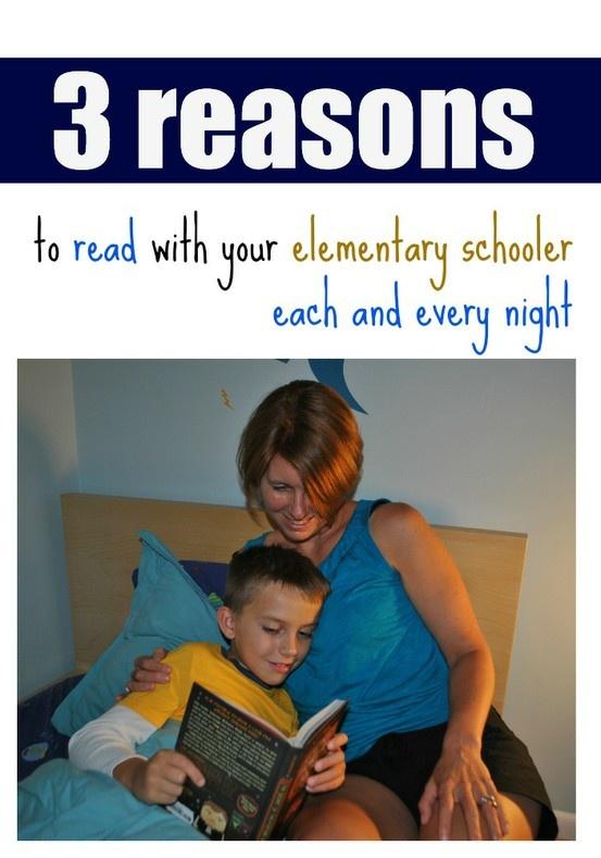 nighttime reading with elementary schoolers | teachmama.com