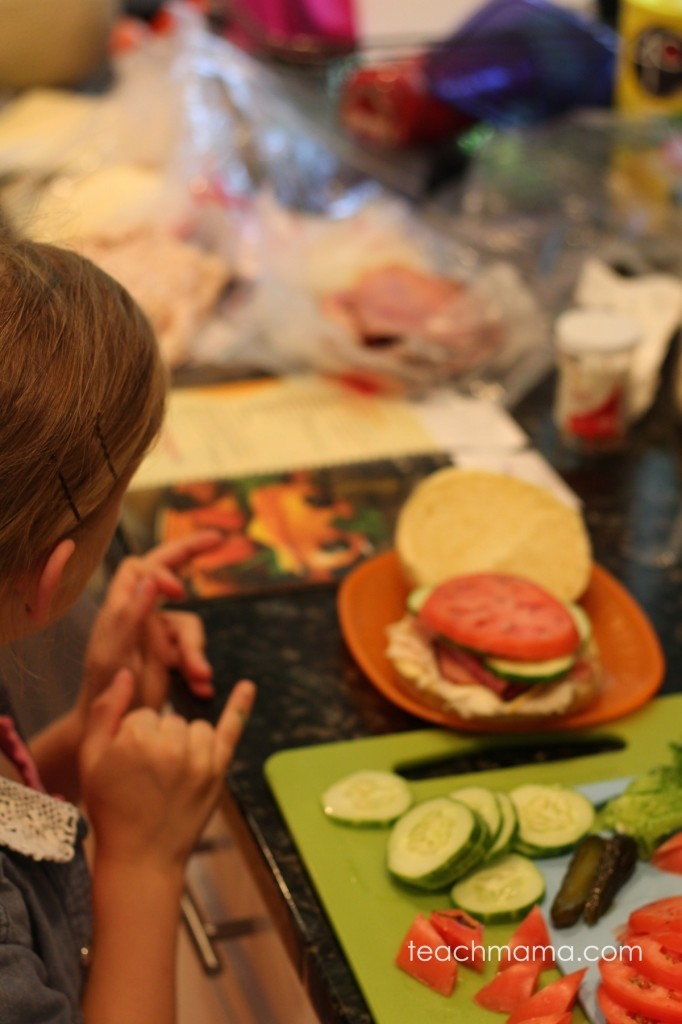 recipe reading for kids: fun learning in the kitchen with monster sandwiches