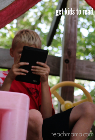get kids to read | kindle for reluctant readers teachmama.com