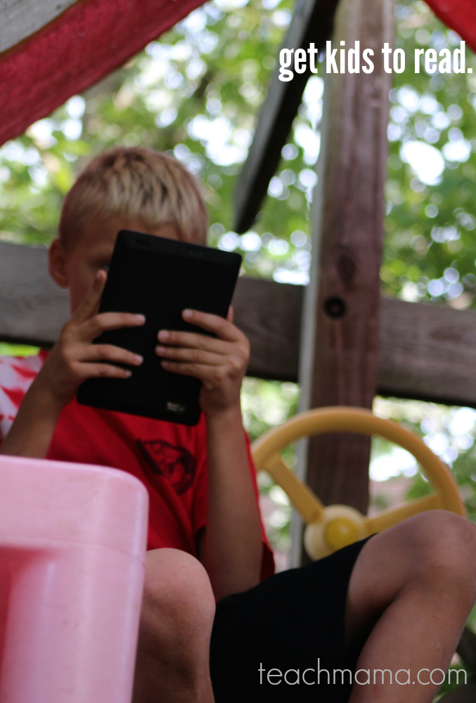 get kids to read | kindle ebooks for reluctant readers teachmama.com