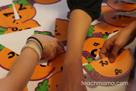 pumpkin match game | teachmama.com