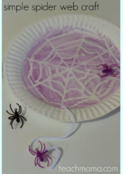 simple spider web craft: perfect for Halloween class party