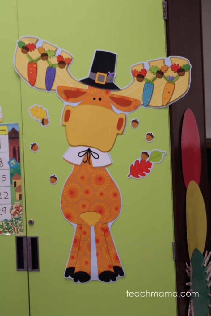 moose bulletin board with fall flaire