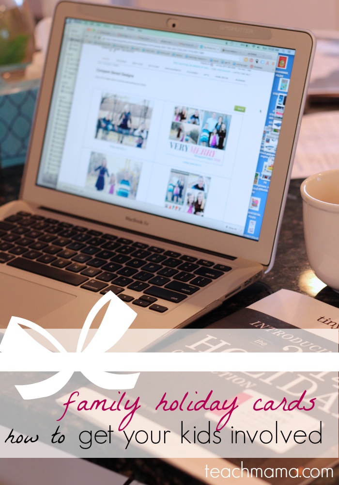 family holiday cards: how to get the kids involved