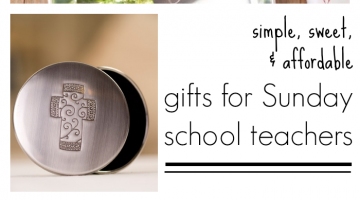 gifts for sunday school teachers or CCD teachers, School of Religion Teachers, & Christian preschool teachers