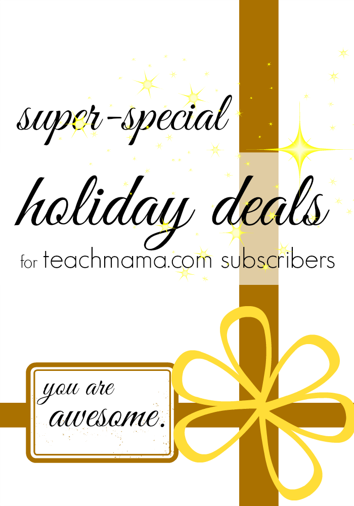 holiday deals for teachmama.com subscribers