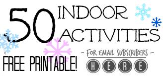 50 indoor activities promo teachmama.com