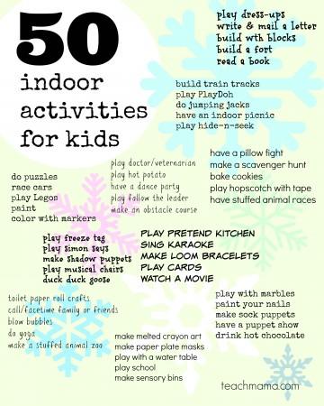 50 indoor activities for kids | teachmama.com