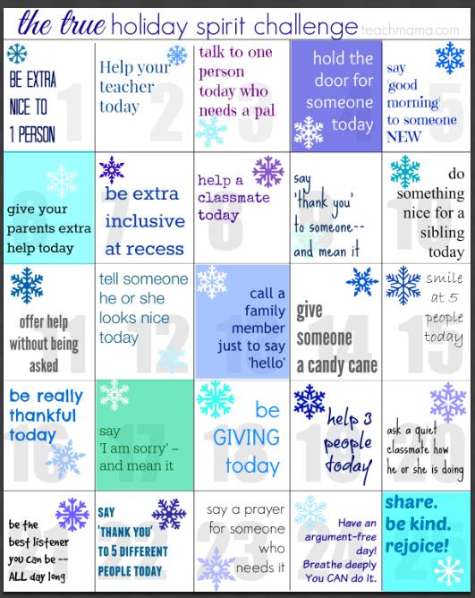 true holiday spirit lunchbox notes | teachmama.com