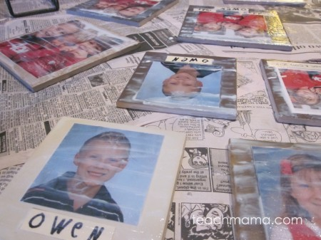 super-easy, homemade photo tiles