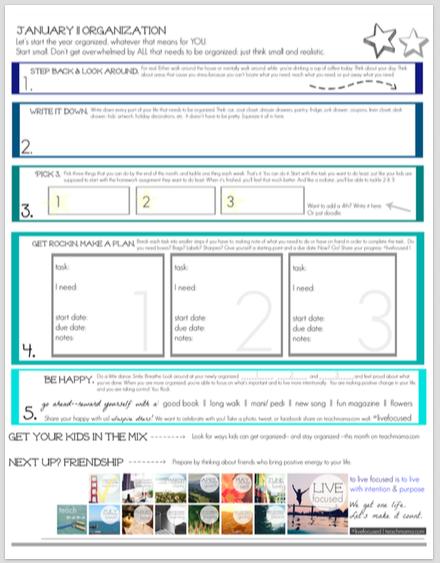 get organized the plan sheet | teachmama.com