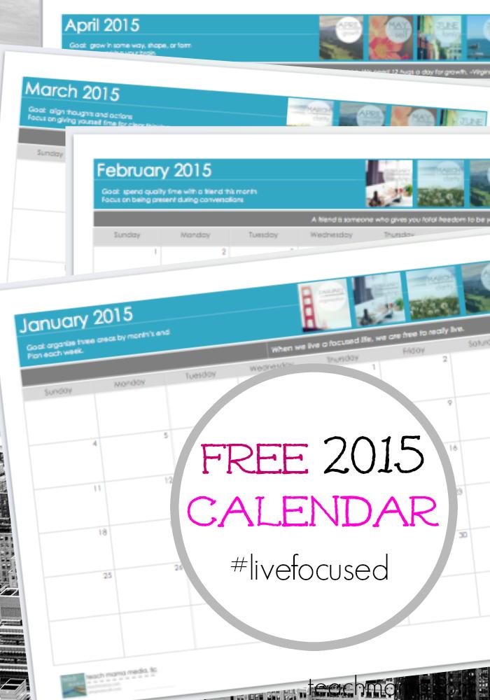 blank 2015 calendar