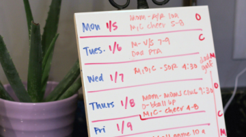 organize your family's week: small step with big payoff