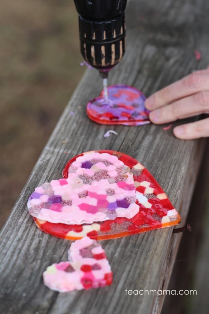 melted bead suncatcher  the artful year  teachmama.com