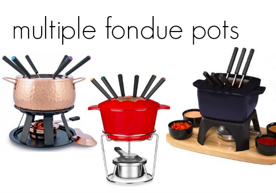 family fondue night  teachmama.com many pots