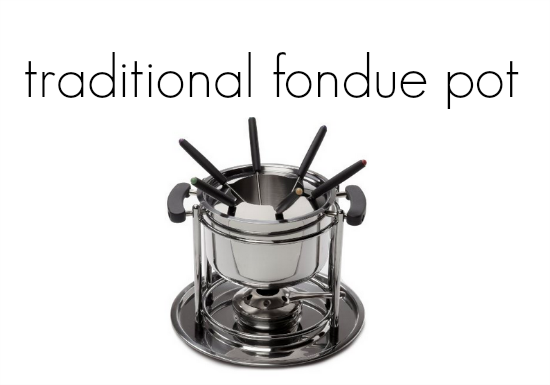 family fondue night  teachmama.com traditional pot
