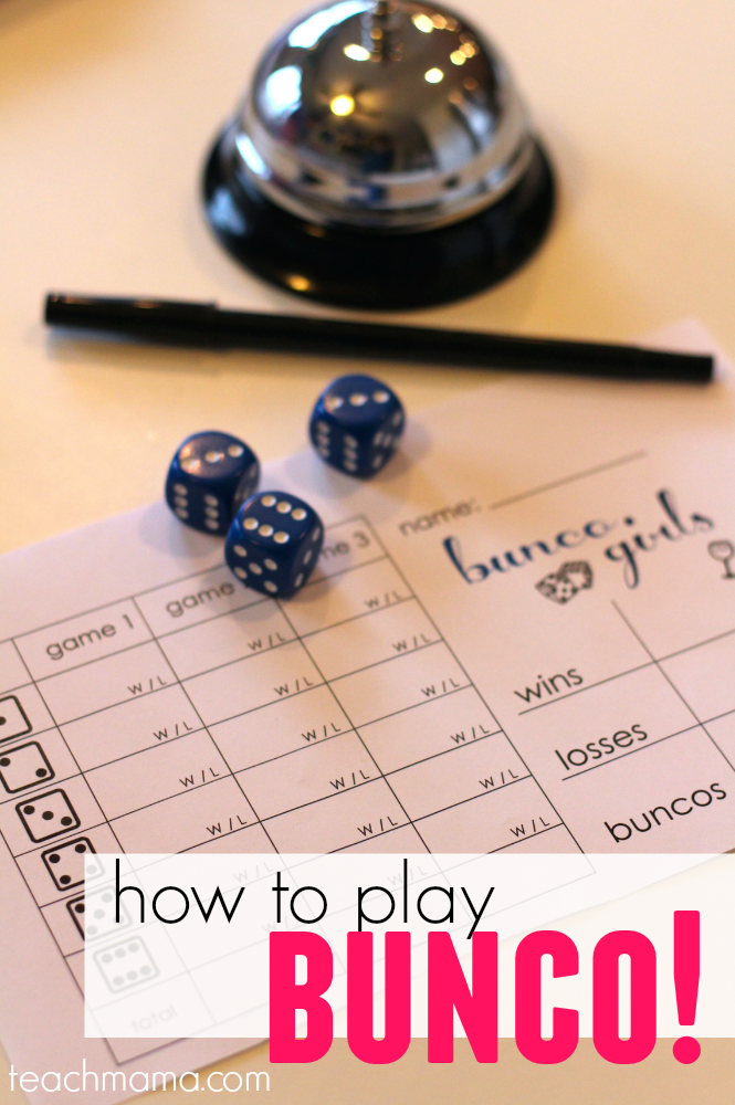 How To Play Bunco Everything You Need Teachmama Png