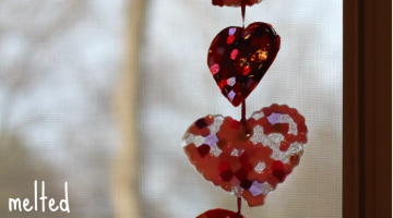 melted bead suncatchers: celebrating 'the artful year'