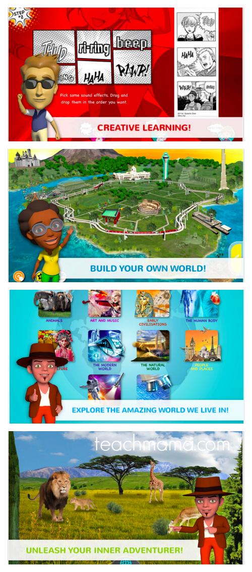 mworld app collage | teachmama.com