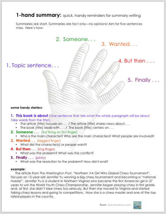 writing book report 5th grade