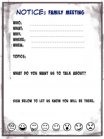 family meeting notice blank
