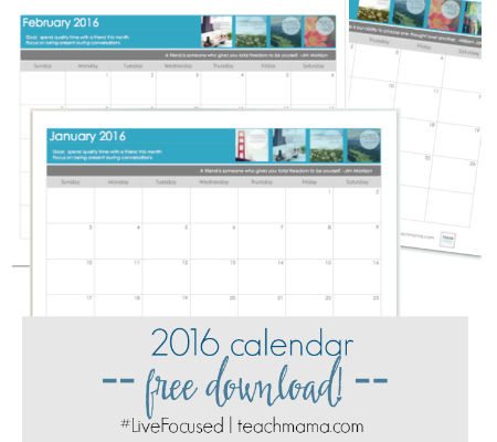 free calendar download promo teachmama.com