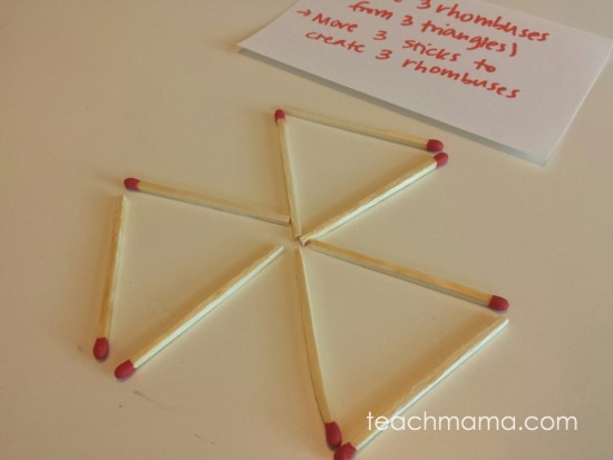 matchstick math: patterns, puzzles and critical thinking
