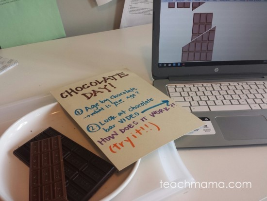 chocolate math: age by chocolate | teachmama.com