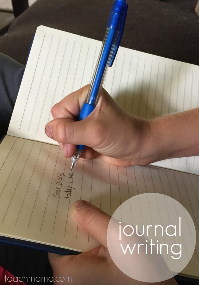 get kids writing | journal | teachmama.com